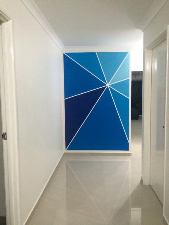 blue wall accent