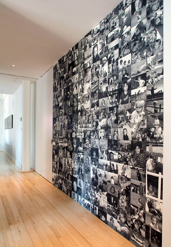 photo covered wall