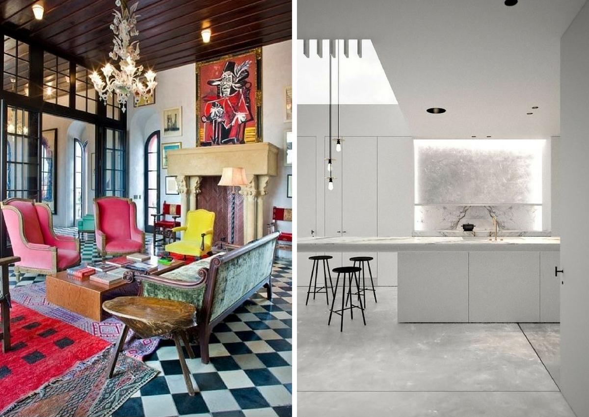 maximalist floors vs minimalist floors