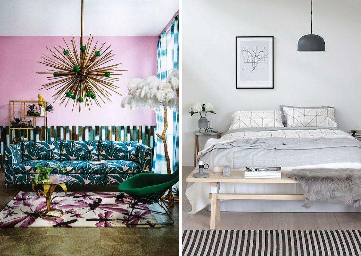 maximalist prints vs minimalist prints
