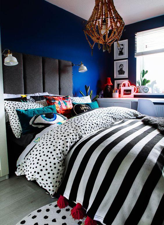 cozy maximalist bedroom