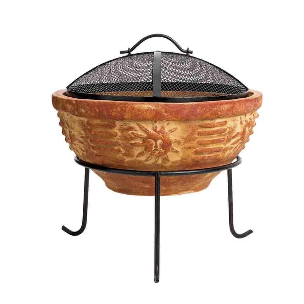 Aztec clay fire pit