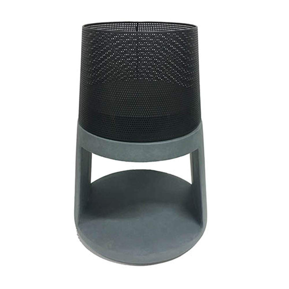 steel and cement patio heater