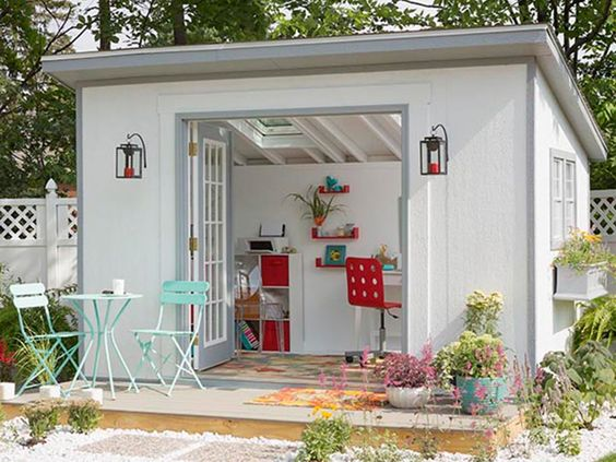 white office shed