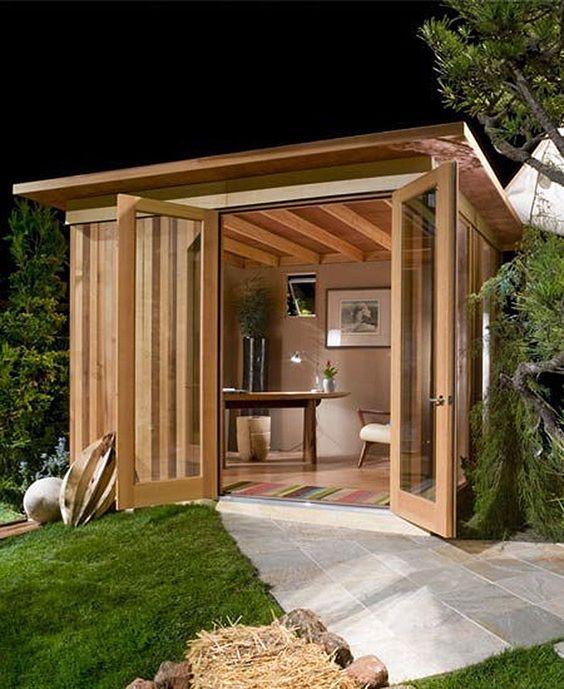 DIY backyard office