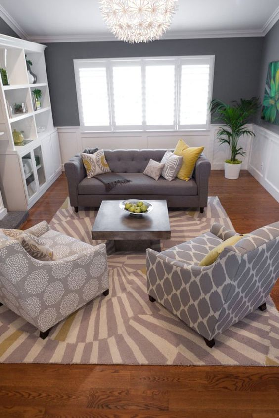 mismatched sofas family room