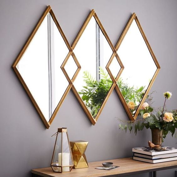 mirror wall accent