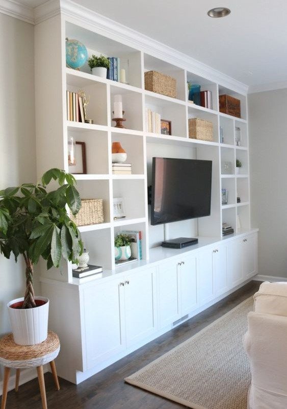 built-in wall storage