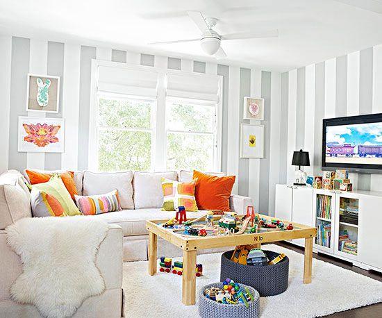 bright family room
