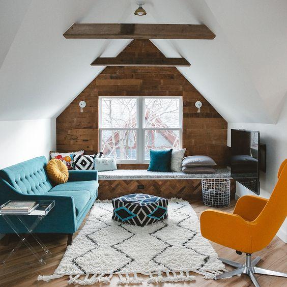 attic TV room