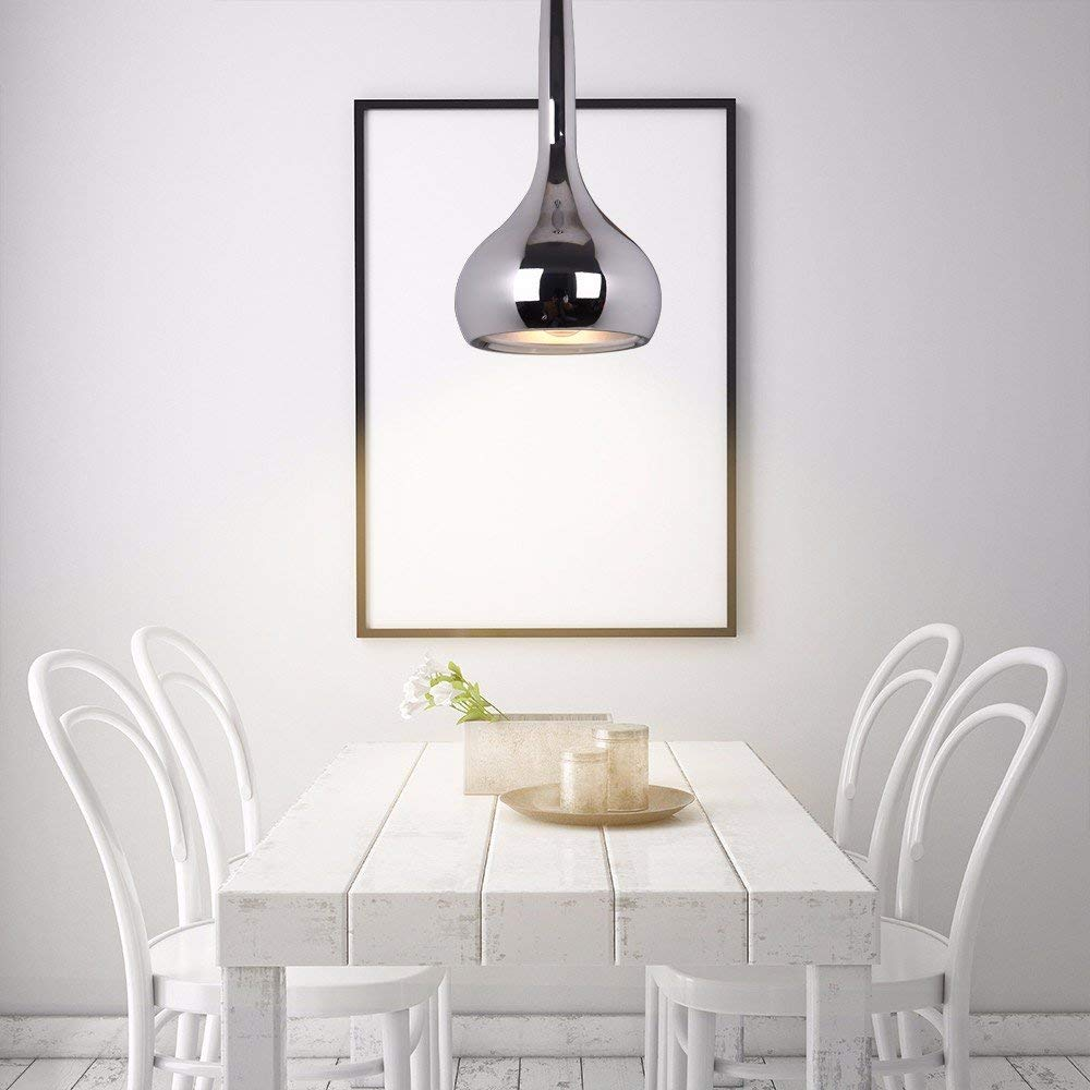 chrome pendant light