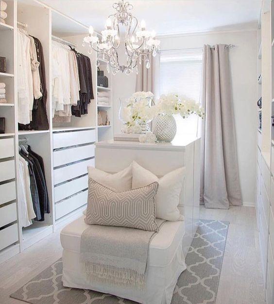 white cosy closet