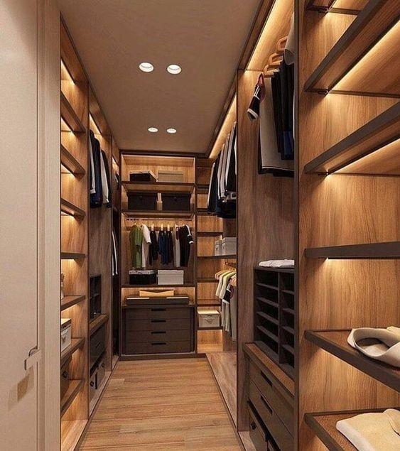 elegant bedroom closet