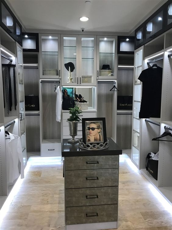 modern elegant bedroom closet