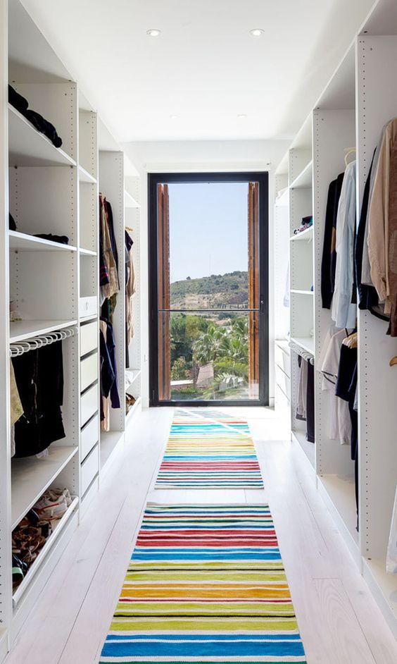 bright bedroom closet
