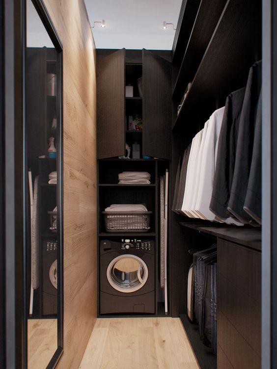 closet with laundry