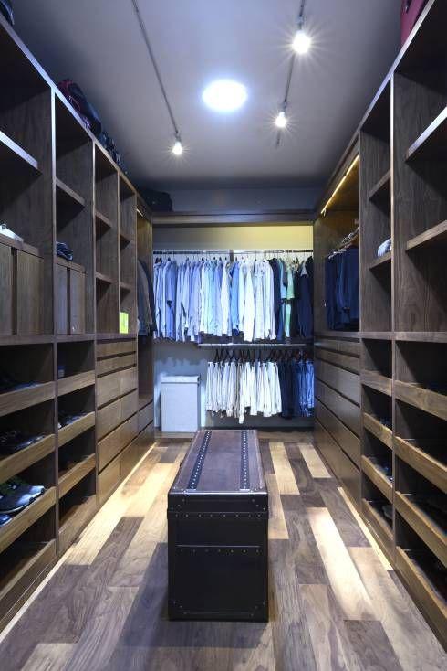 rustic modern closet