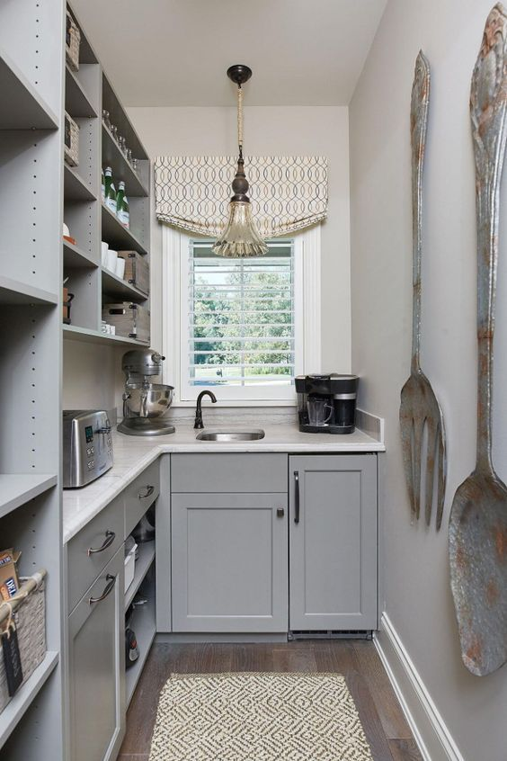 stylish kitchen pantry