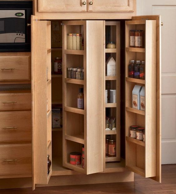 swing out cabinets