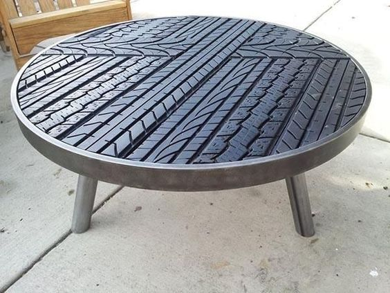 rubber coffee table