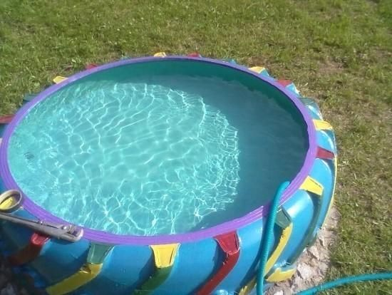 tire backyard pool