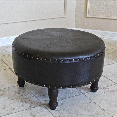 leather ottoman stool