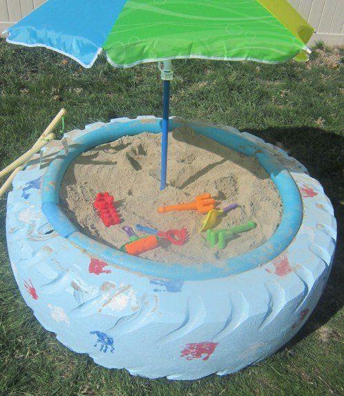 tire sand box
