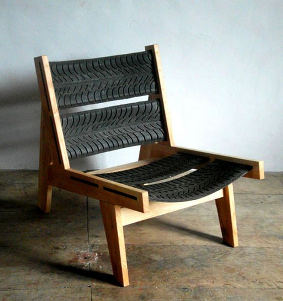 tire rubber chair