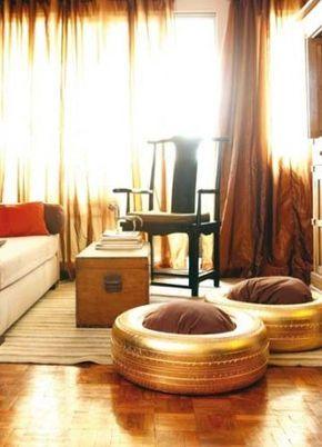 golden tire ottoman