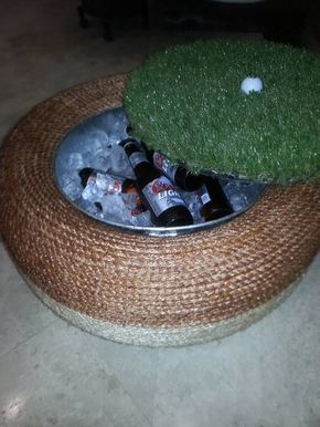tire picnic cooler
