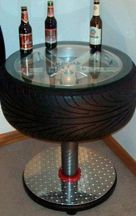 tire recycled bar table