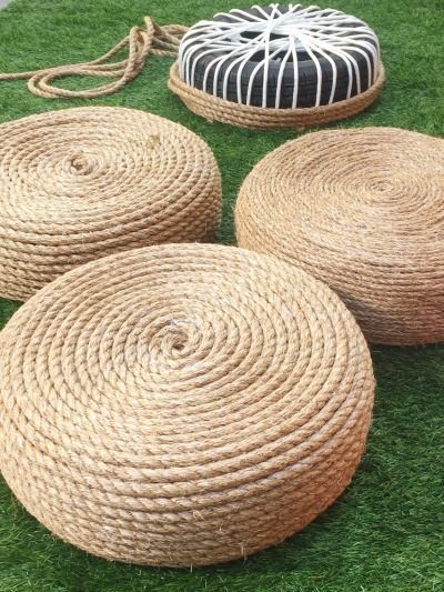 tire rope ottomans
