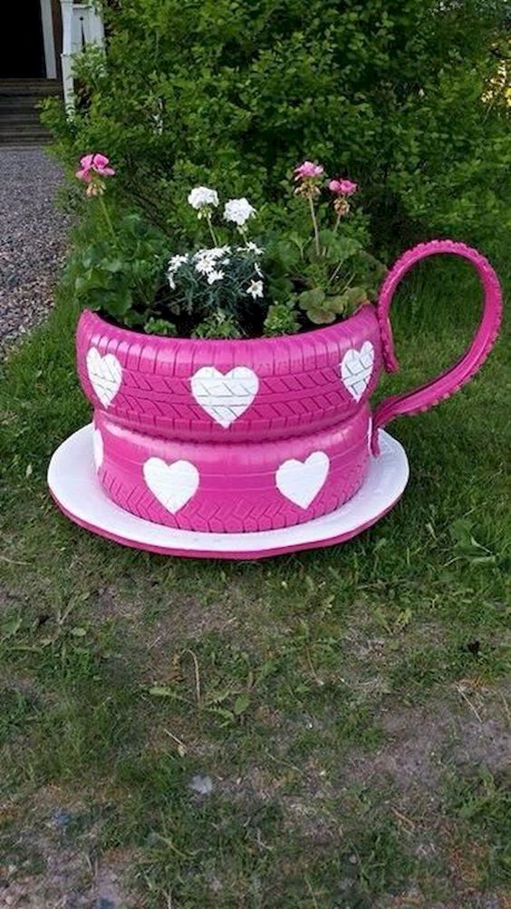 teacup rubber planter