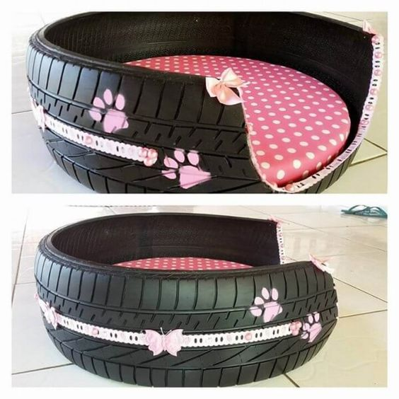 recycled tire pet bed