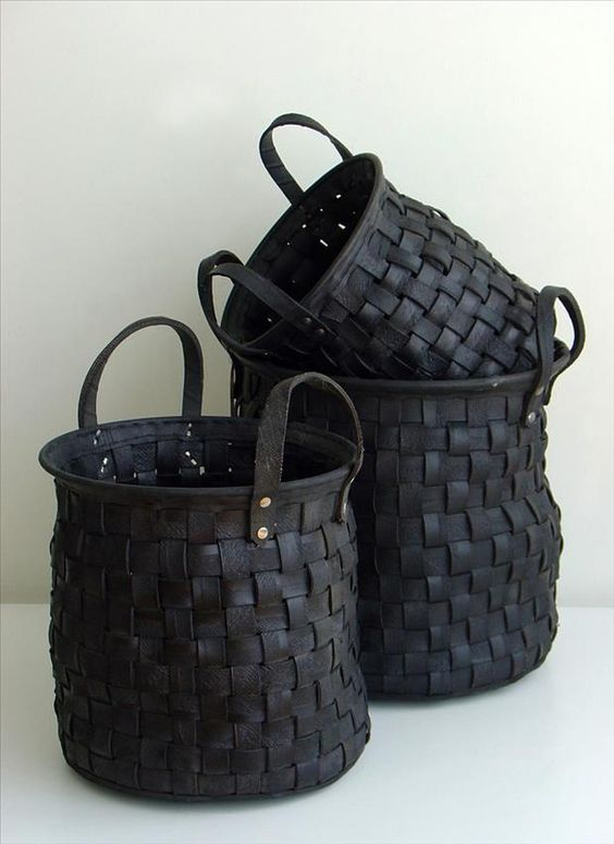 weaved rubber basket