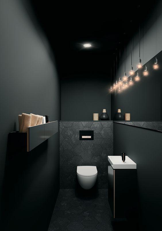 black goth bathroom