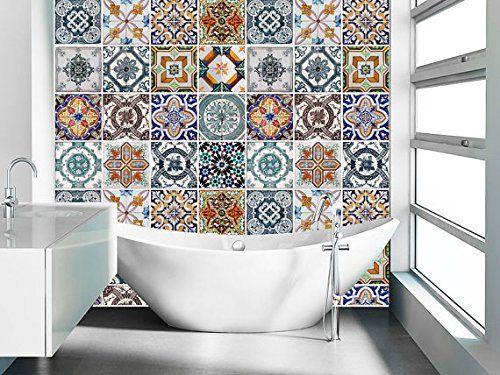 colorful tiles bathroom