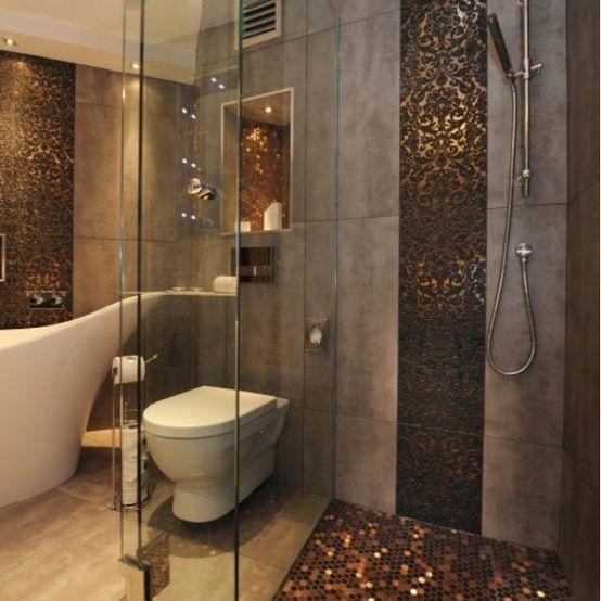 metallic ornate bathroom
