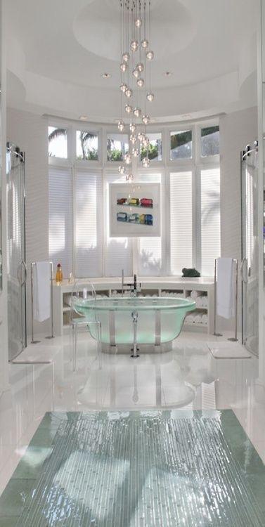 classy white bathroom