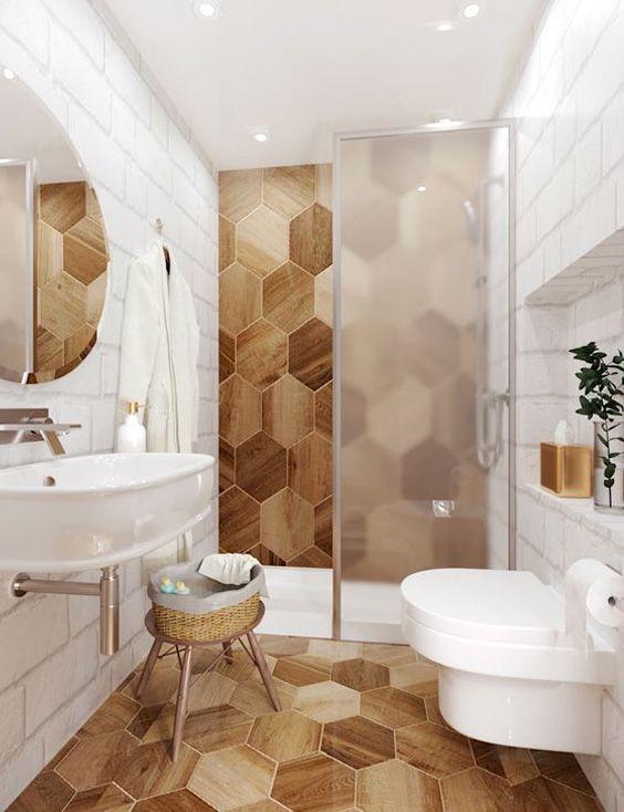 wood octagon tiles