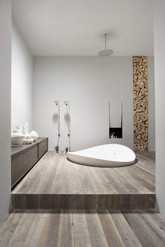 sunken bathtub