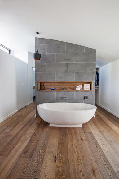 wood bathroom floor