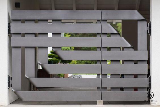 modern steel gate