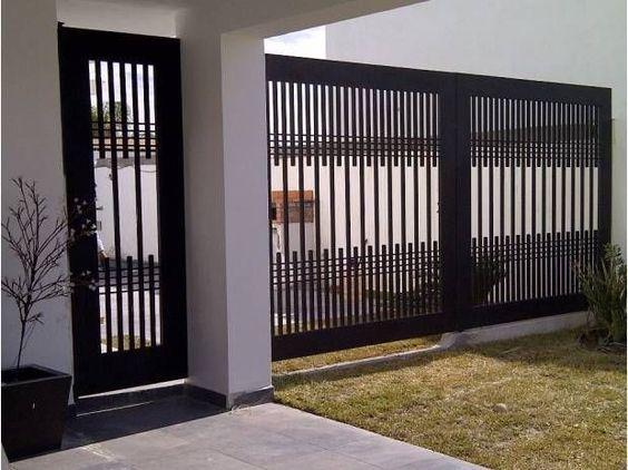modern black gate