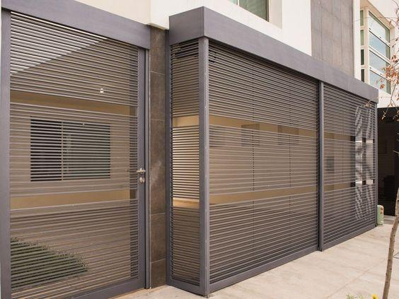 modern steel driveway screen