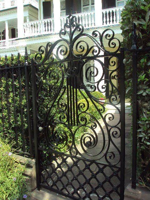 classic black iron gate