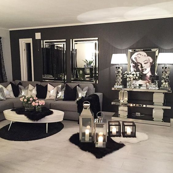 glam goth living room