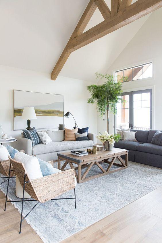lakeside house living room