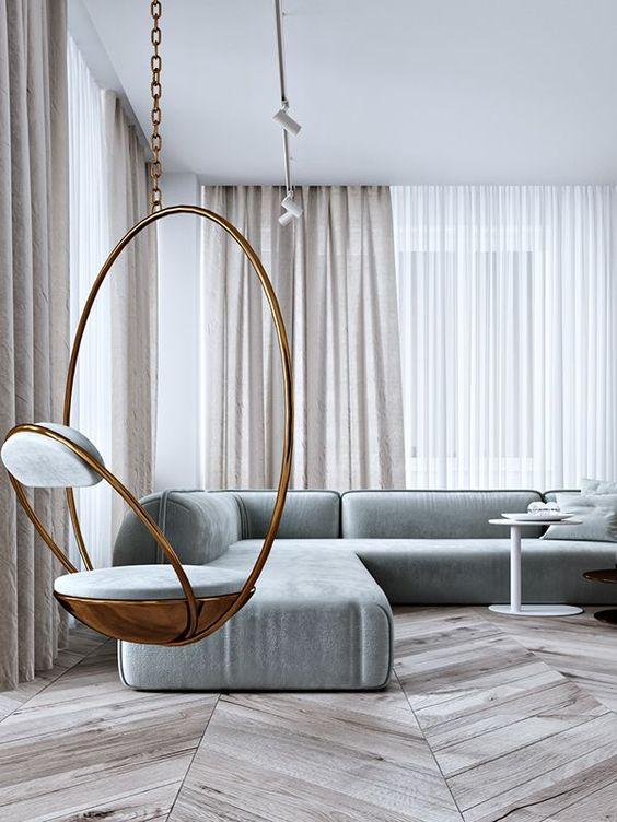 gold indoor swing