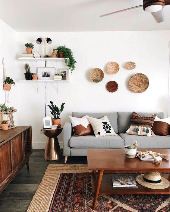 modern mediterranean living room